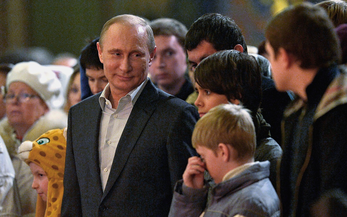 00 Putin. Christmas 2014. Church of the Icon of Christ 'Not Made by Hands'. Sochi RF. 14.01.14