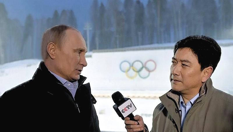 00 Putin in Sochi w China TV reporter. 19.01.14