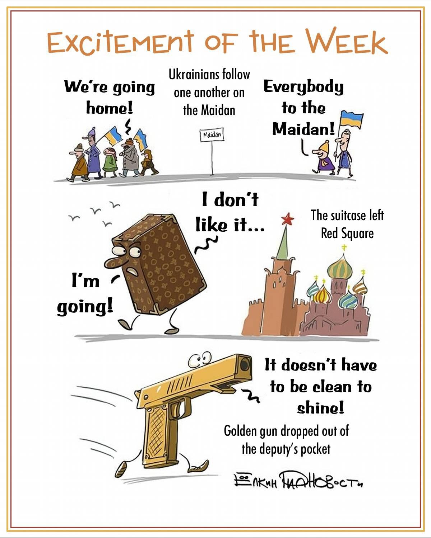 00 Sergei Yolkin. Events of the Week in Cartoons by Sergei Yolkin. 2-6 December 2013. 2013