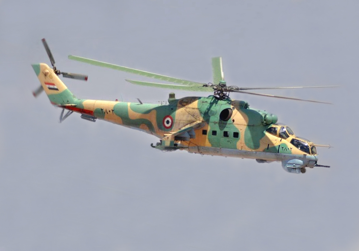 00 Syrian Arab Air Force Mi-24 attack helicopter. 09.01.14