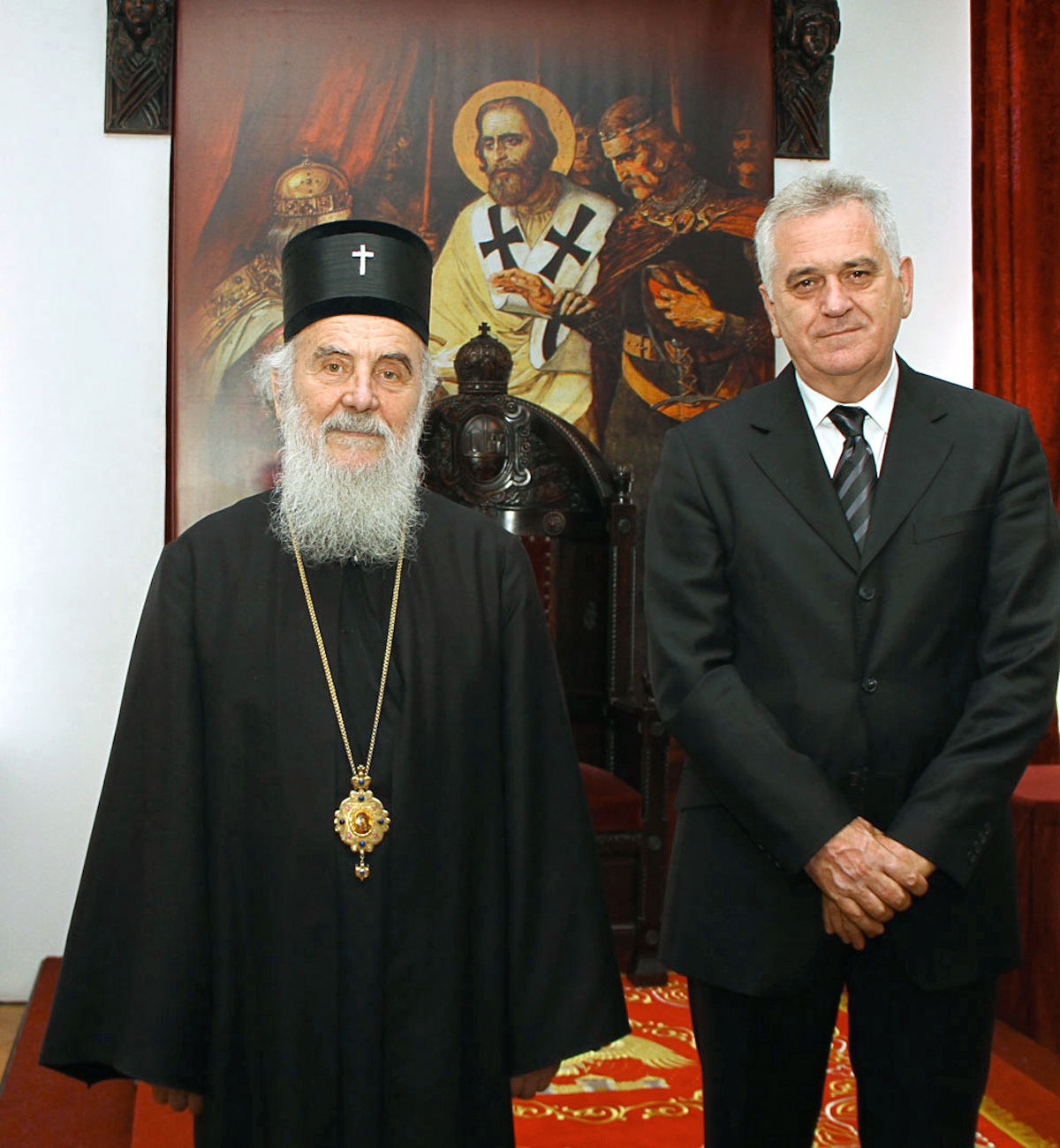00 Tomislav Nikolić with Patriarch Irinej. 09.01.14