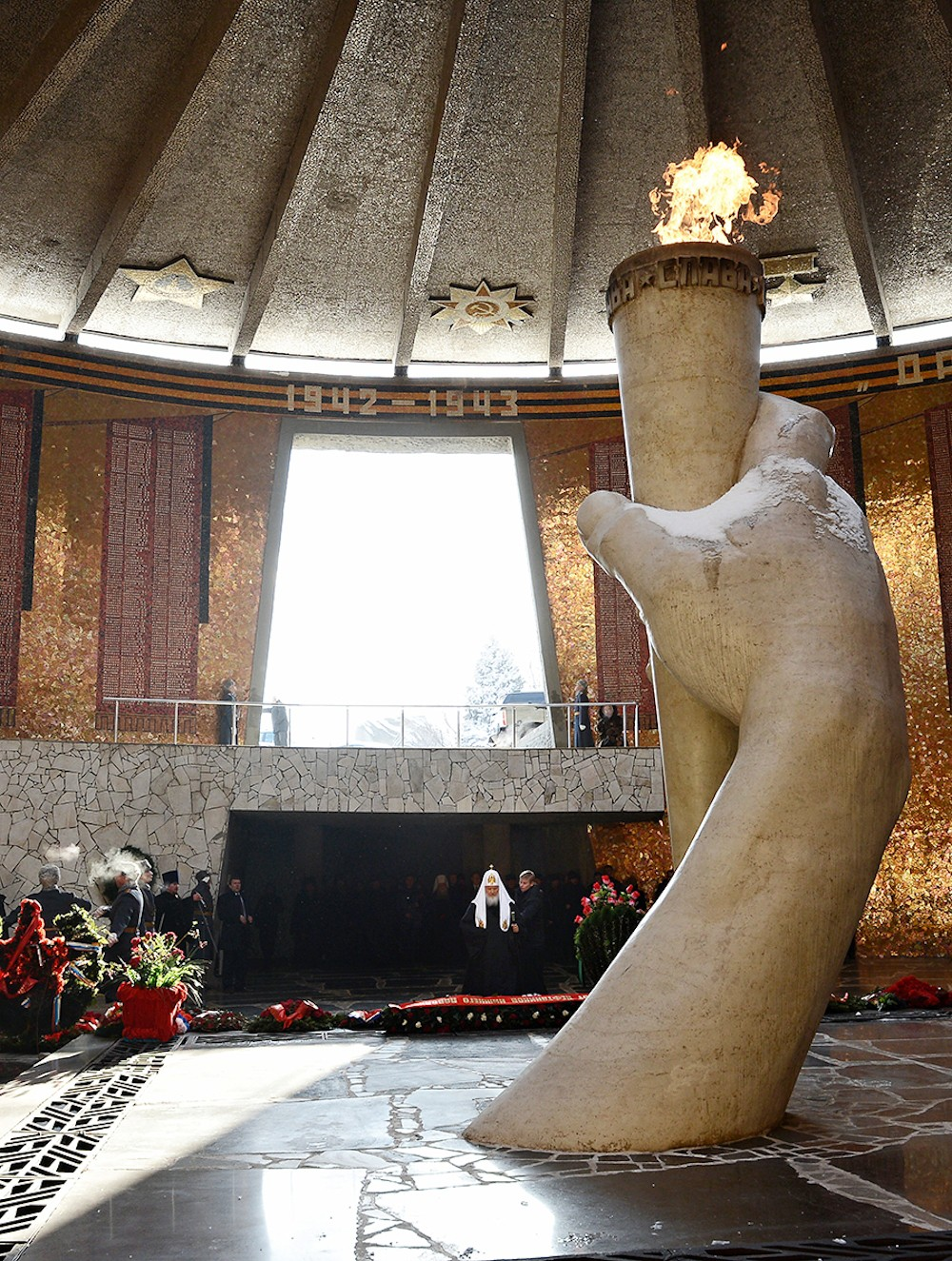 00 Patriarch Kirill. Mamayev Kurgan. Volgograd. 09.02.14