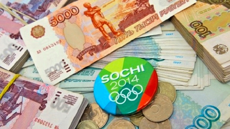 00 SOchi Olympics. money. Russia. 27.01.14