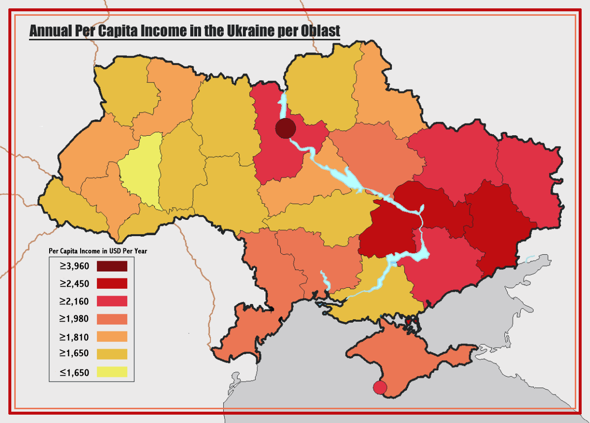 00 Ukraine 02. Per Capita Income map. 13.02.14