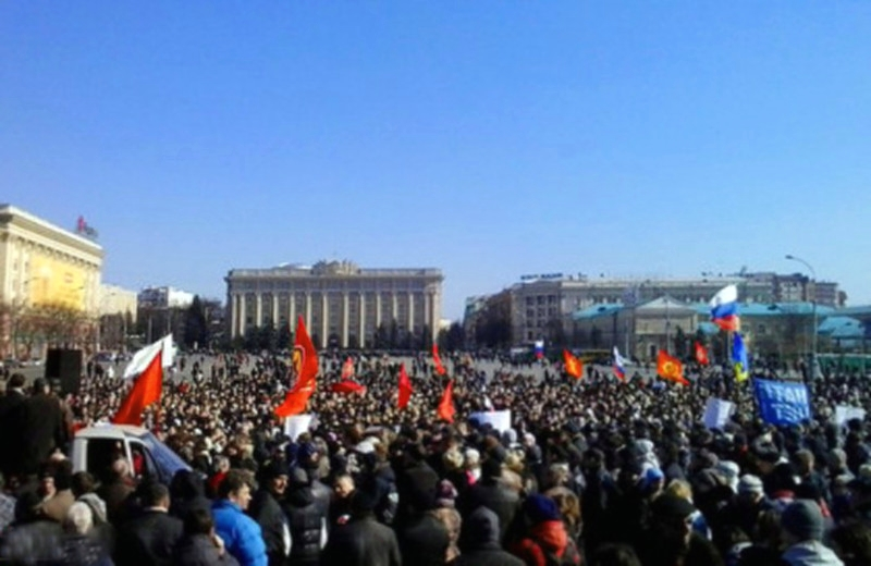 00 Kharkov. protest march. 08.03.14