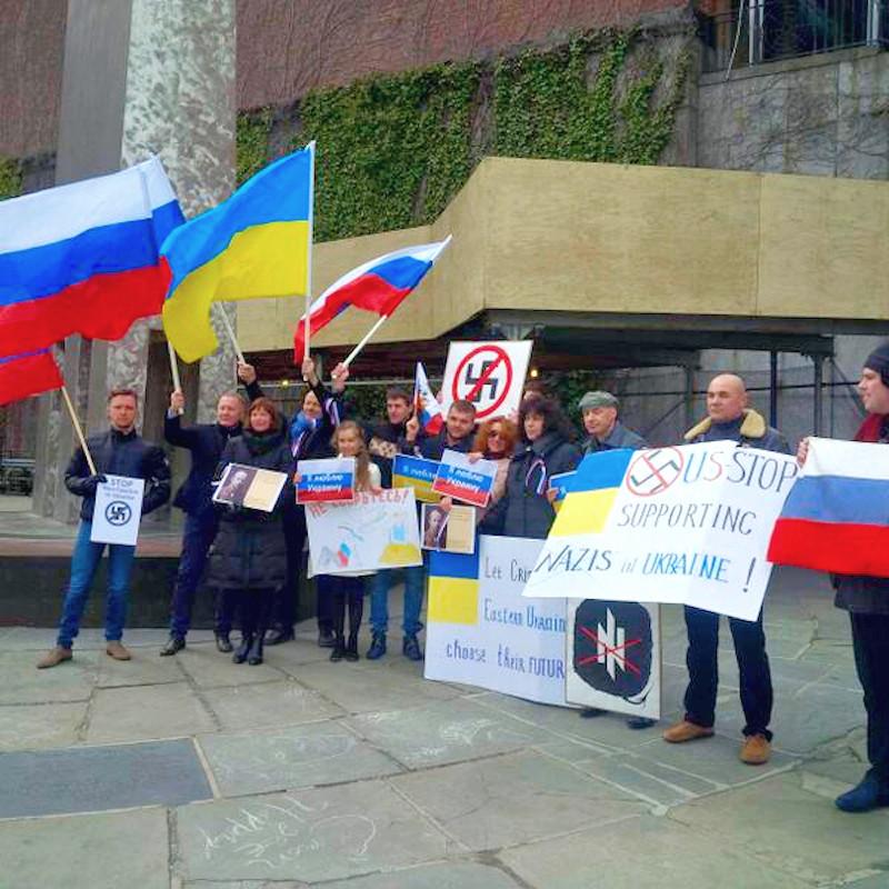 00 UN. Russians and Ukranians against the junta. 24.03.14