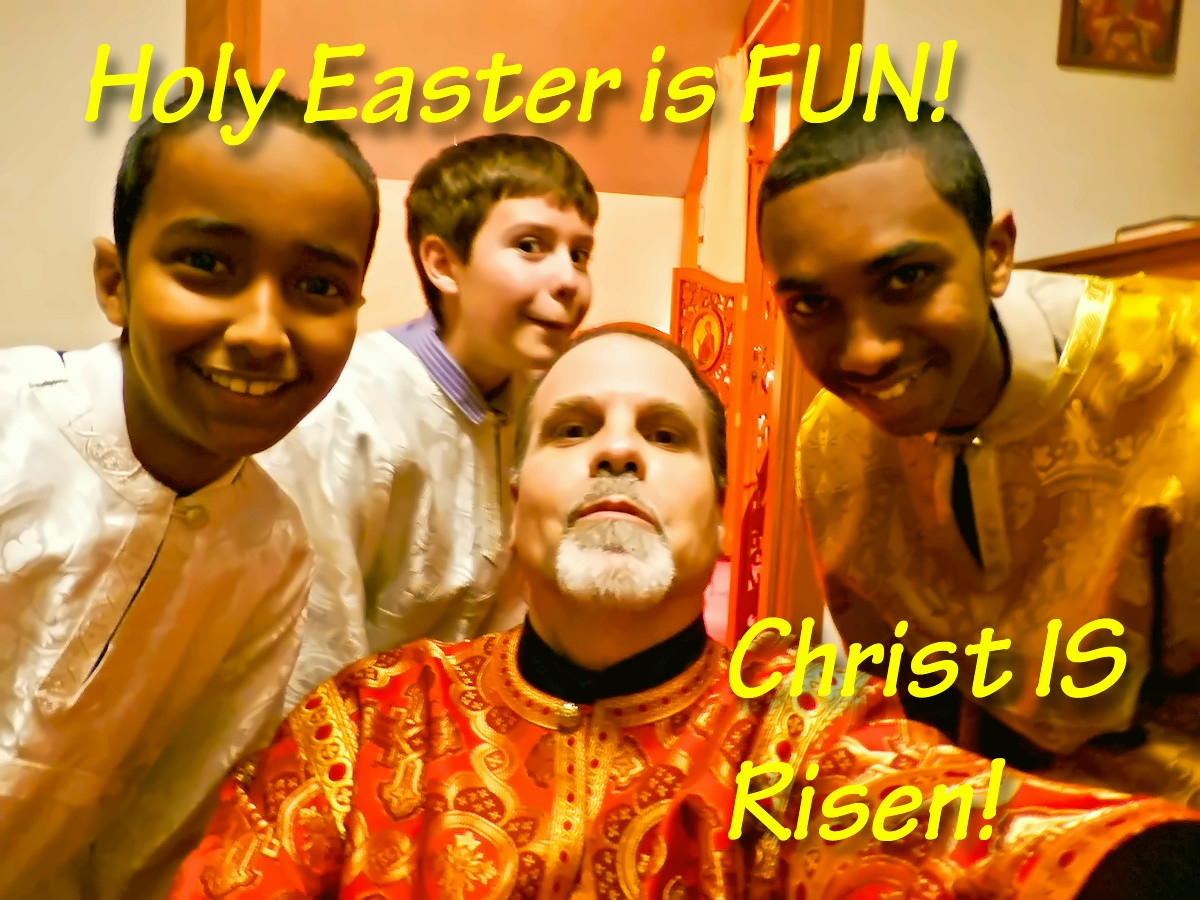 00 Happy Easter 01. Happy Acolytes. 20.04.14.