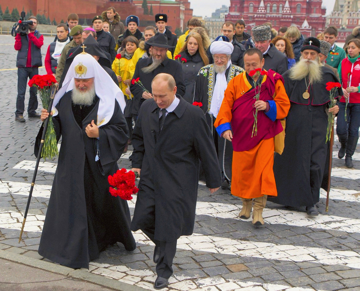 00 Putin and religious leaders. Russia. 21.03.14