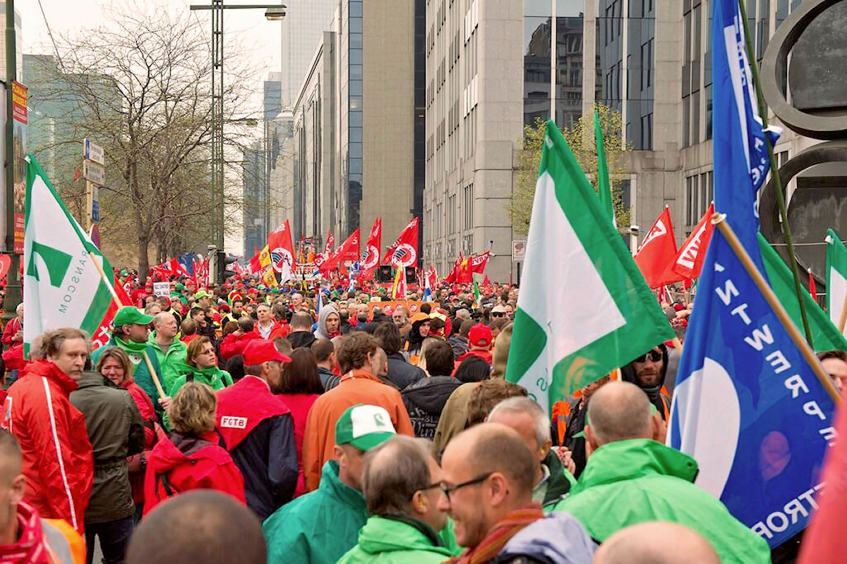 00 trades union rally in Brussel. 04.04.14