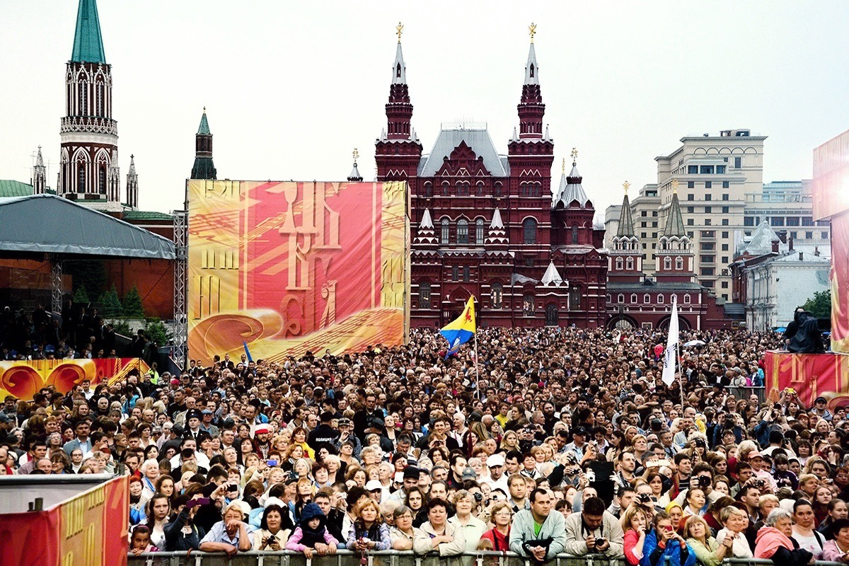 00 church rally on the day of slavic literature. Moscow. 19.05.14