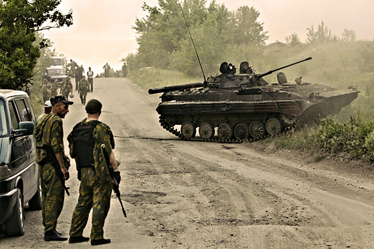 00 Donetsk opolchenie in the field. 23.05.14