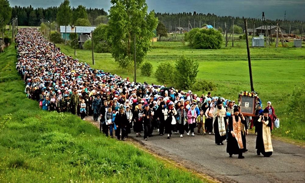 00 velikoretskoye procession. russia. orthodox. 19.05.14