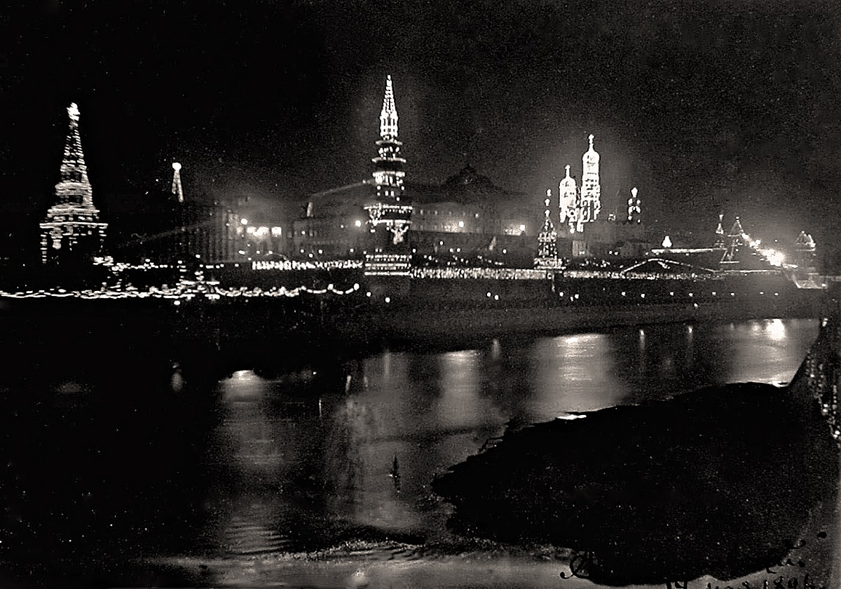 00 Moscow Kremlin. 1896. electric light. 12.06.14