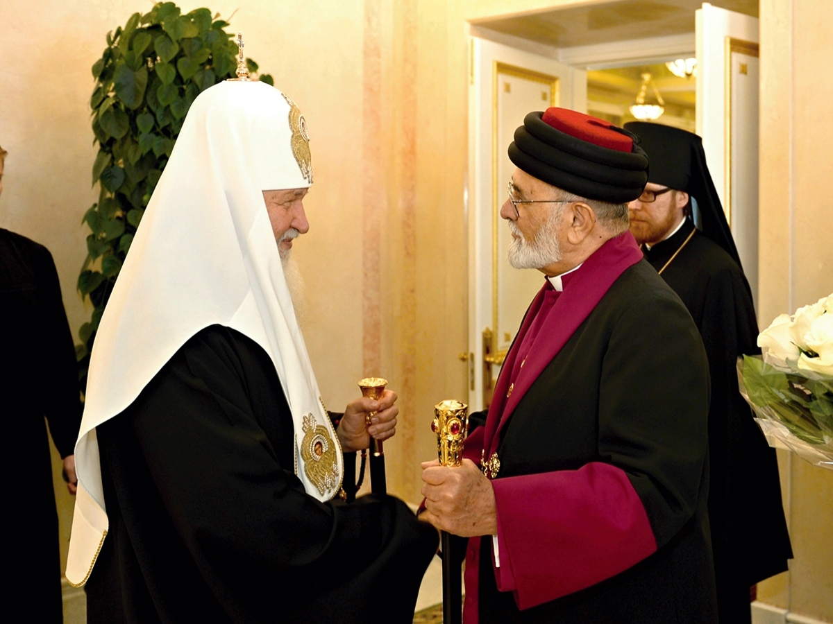 00 Patriarch Kirill w Mar Dynka of Assyria. 01.06.14