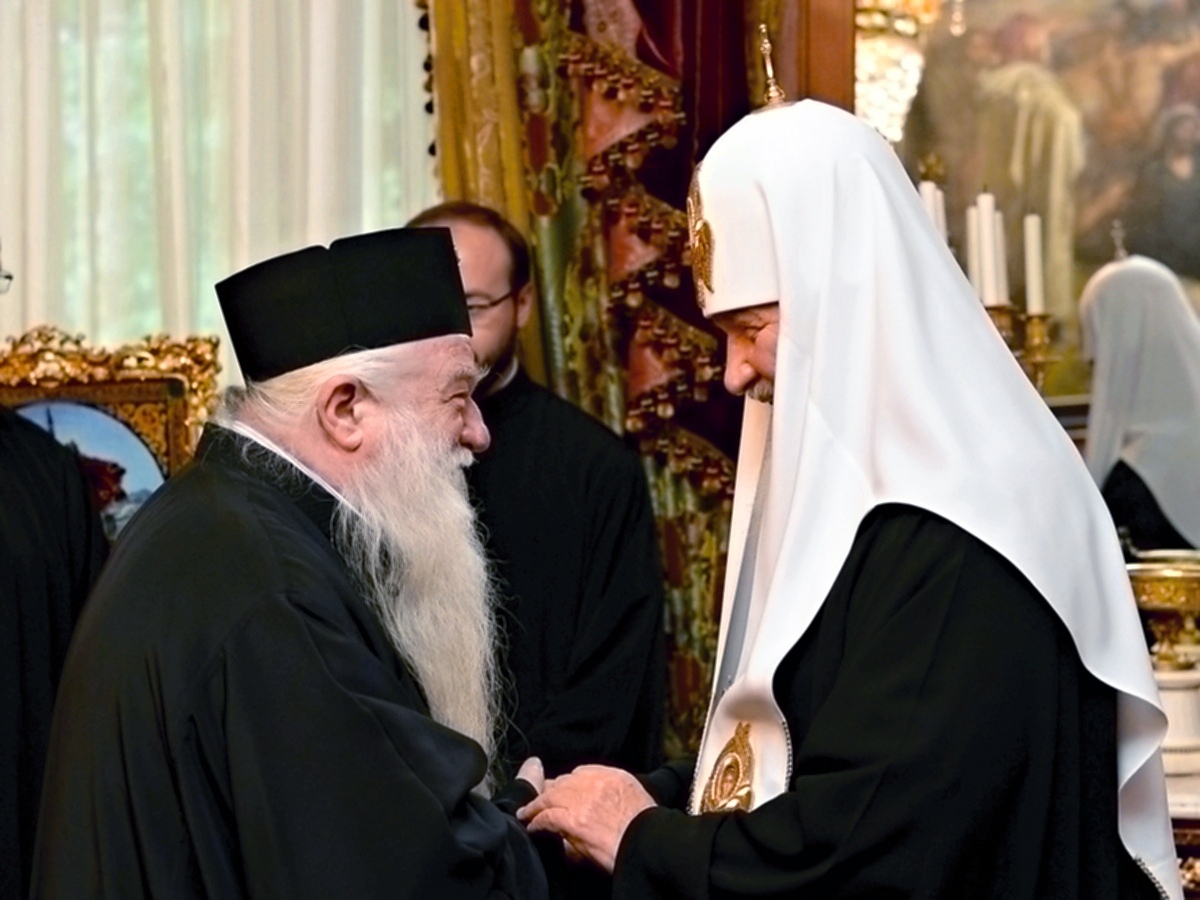 00 Patriarch Kirill w Metr Ambrose of Greece. 01.06.14