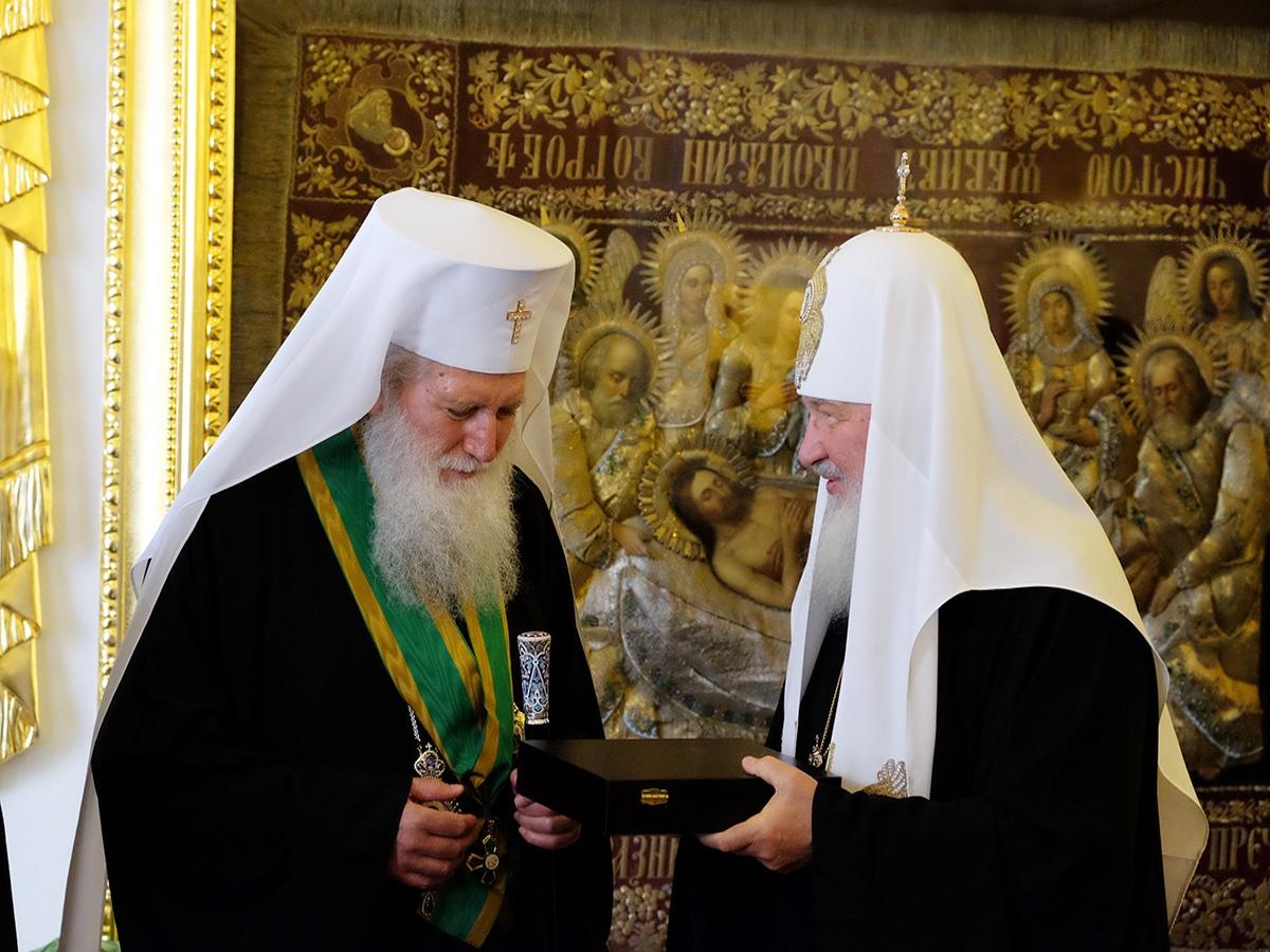 00 Patriarch Kirill w patriarch neofit of bulgaria. 01.06.14