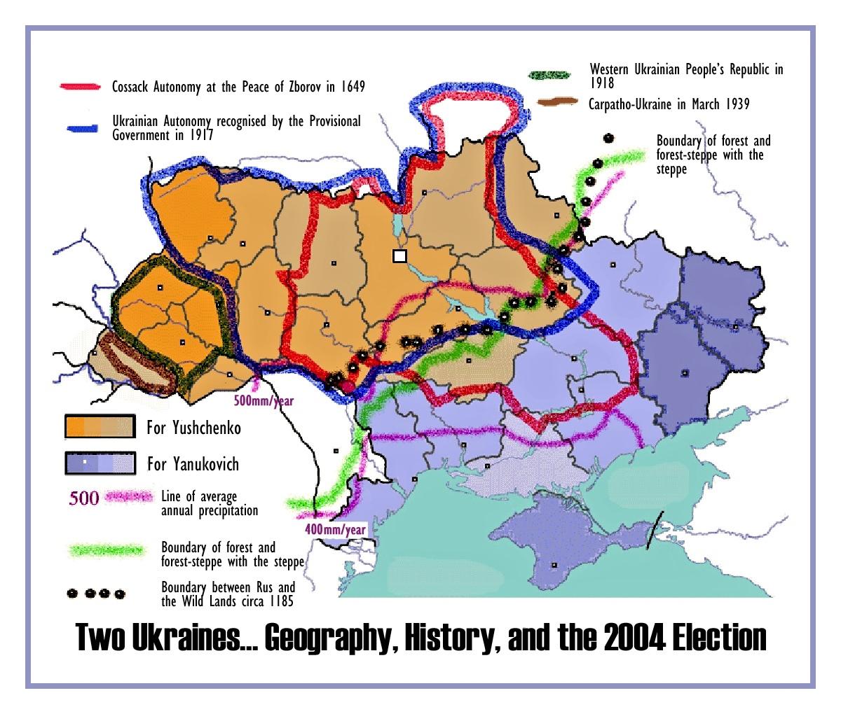 00 Yushchenko. Yanukovich. map. 04.06.14.