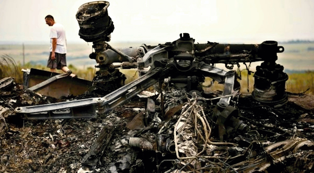 0 777 crash site in Donetsk NR 02. 18.07.14