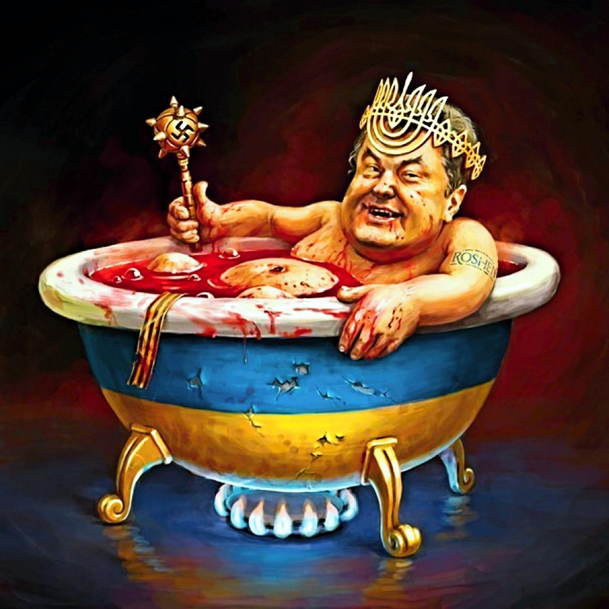 Bildergebnis für bloody poroschenko