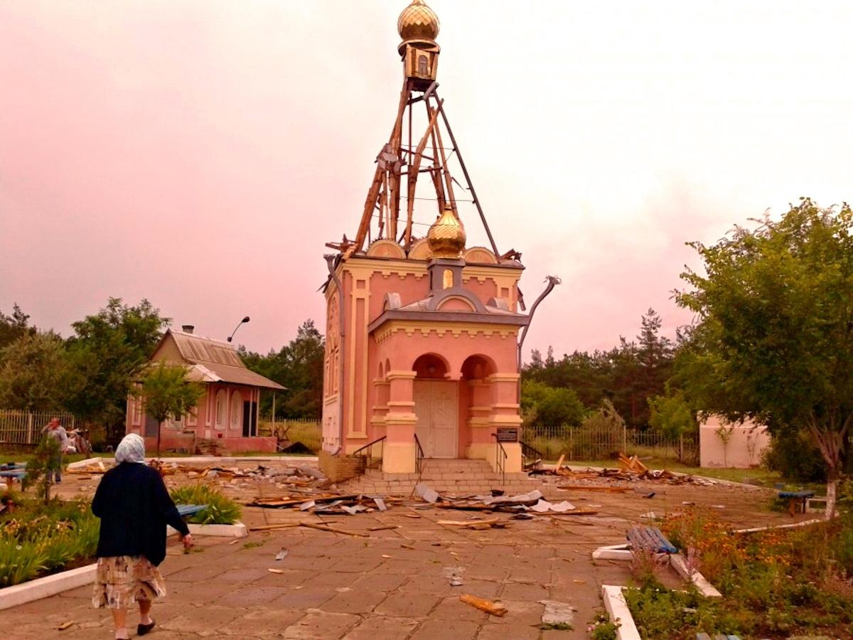 00 church in slavyansk. 18.07.14