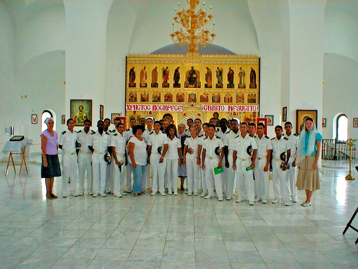 00 Cuba. navy cadets in russian church. 28.07.14
