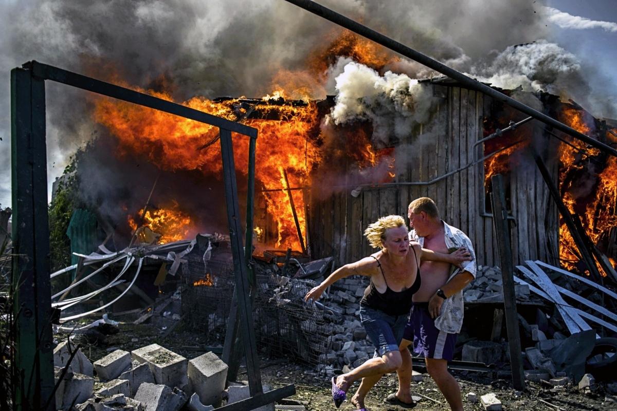 00 Lugansk People's Republic. Uniate terror raid. 10.07.14