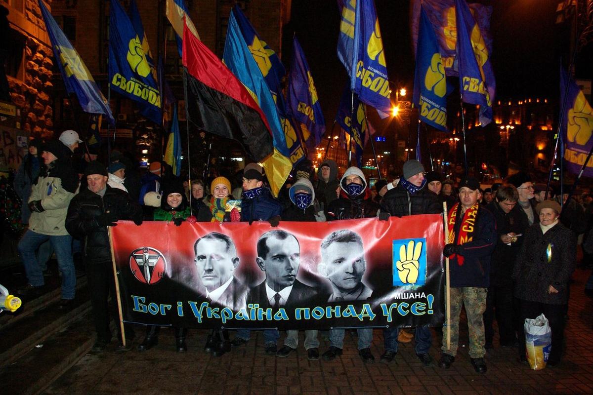 Факельное шествие в честь дня рождения Степана Бандеры прошло в Киеве - Цензор.НЕТ 8076