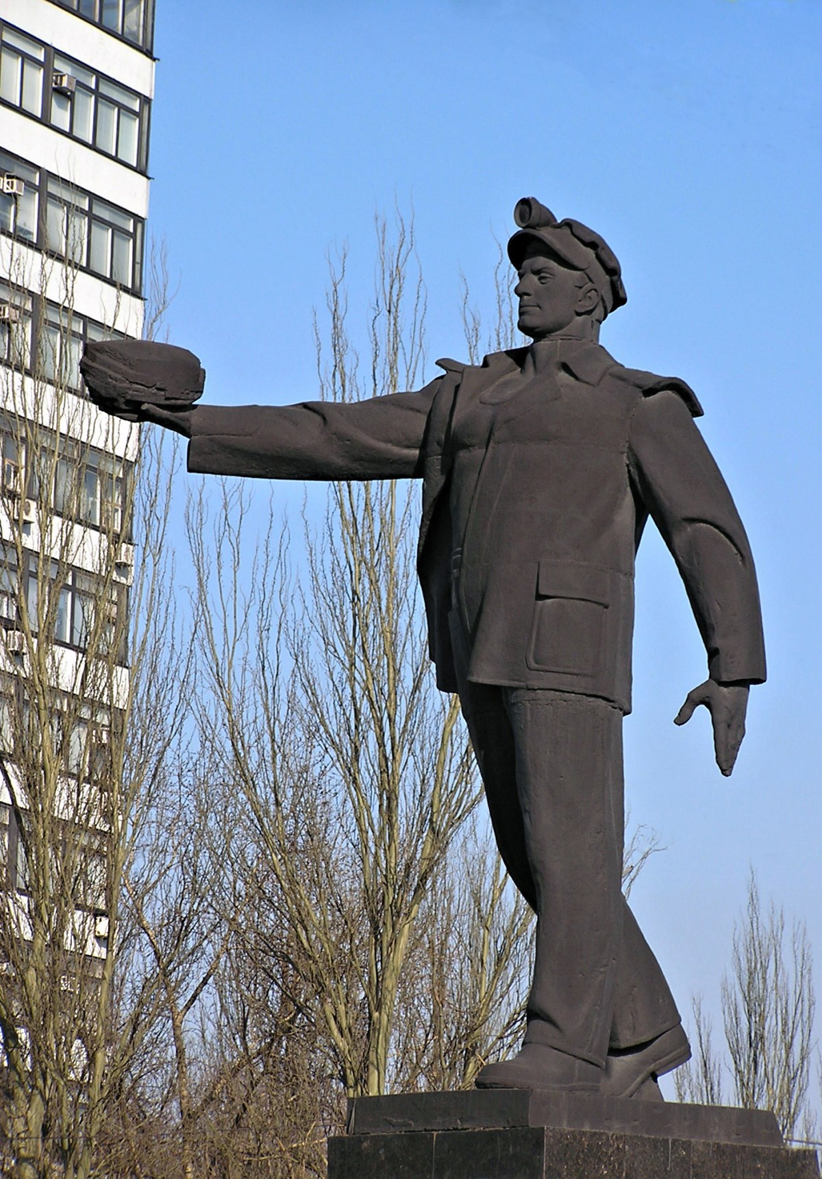 00 Donetsk. Monument to the Coal Miner. 31.08.14.