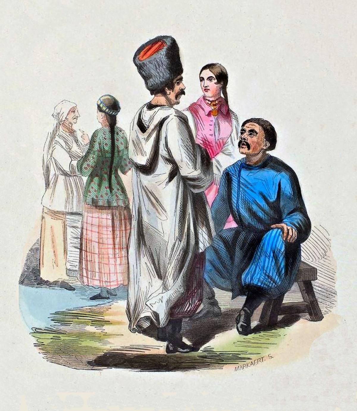00 S Markaert. Habitants de la Petite Russie. 1843.