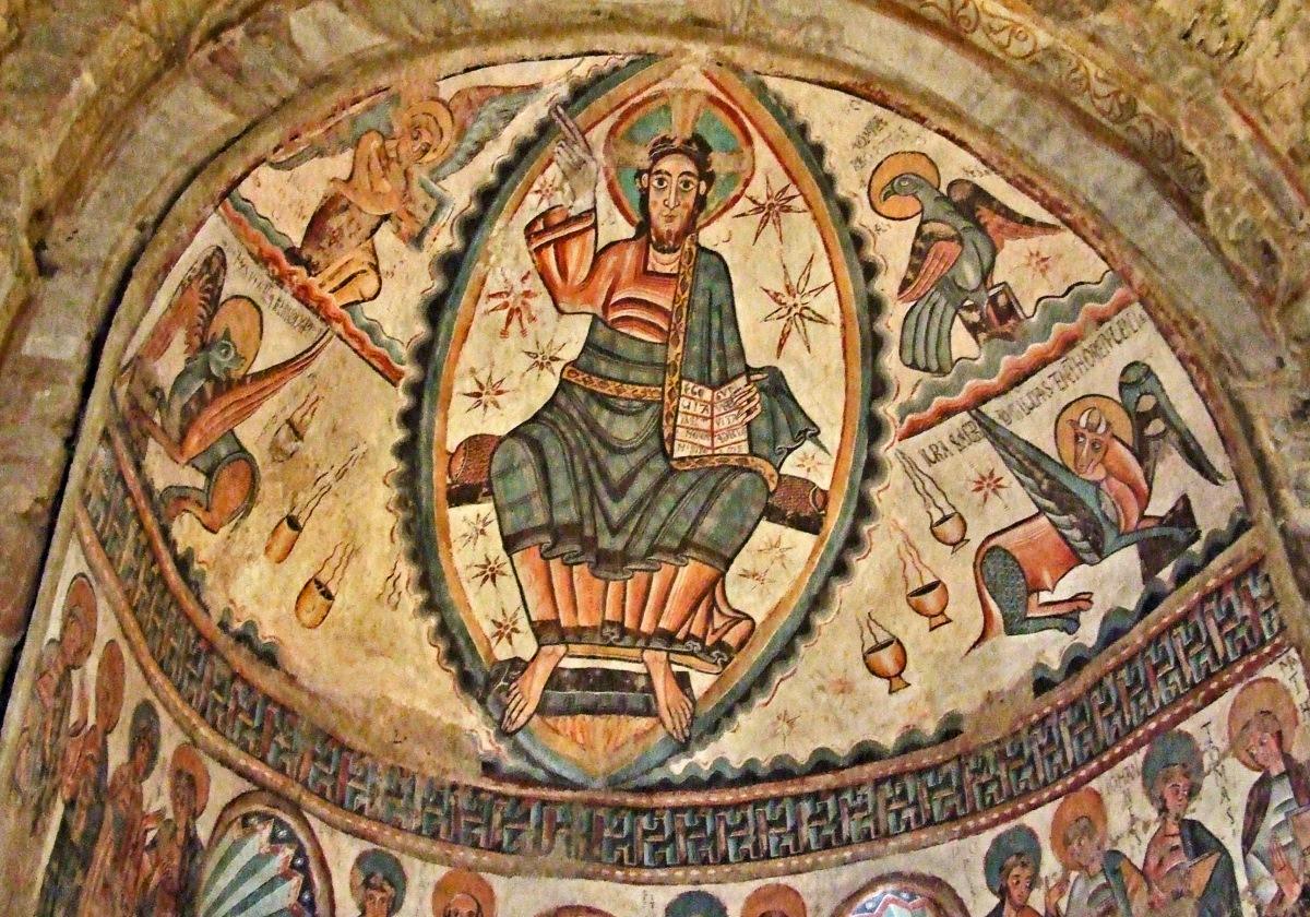 00 Unknown Artist. Majestas Domini (Christ in Majesty). Monestir de Santa Maria de Mur. Castell de Mur (Lleida. Cataluna) SPAIN.