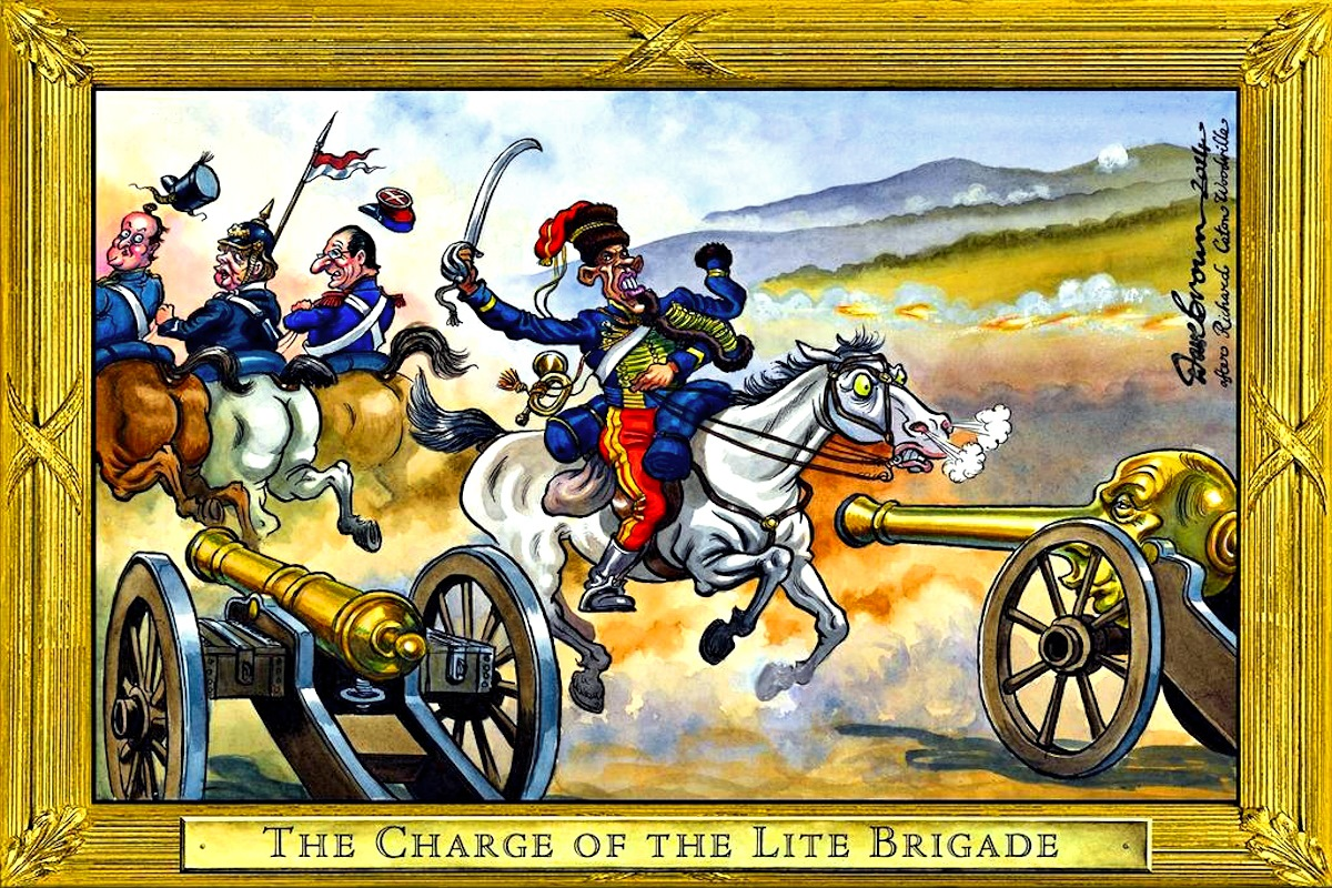 00 Dave Brown. The Charge of the Lite Brigade. 2014
