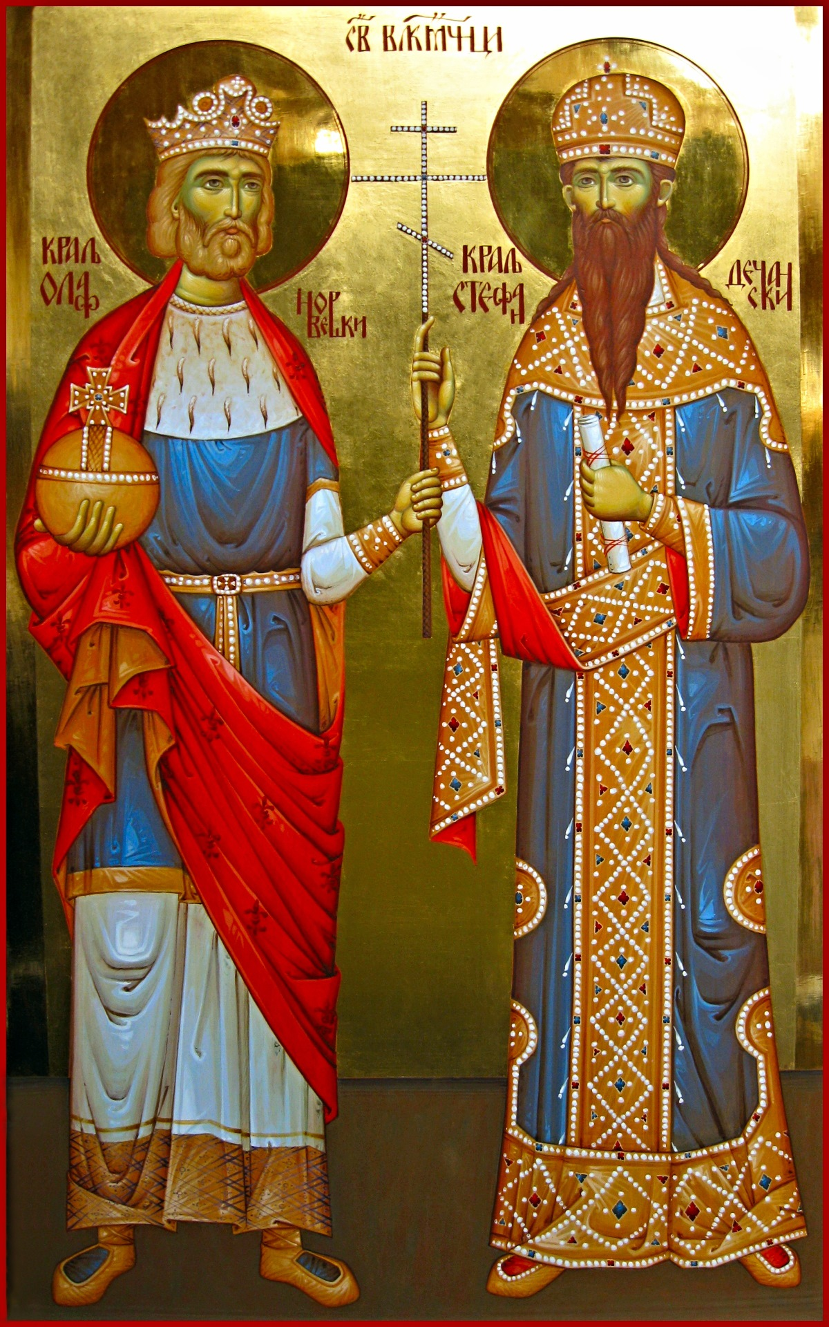 00 King St Olav II of Norway and Stefan Uros III of Decani Nemanjić 01. 19.10.14.