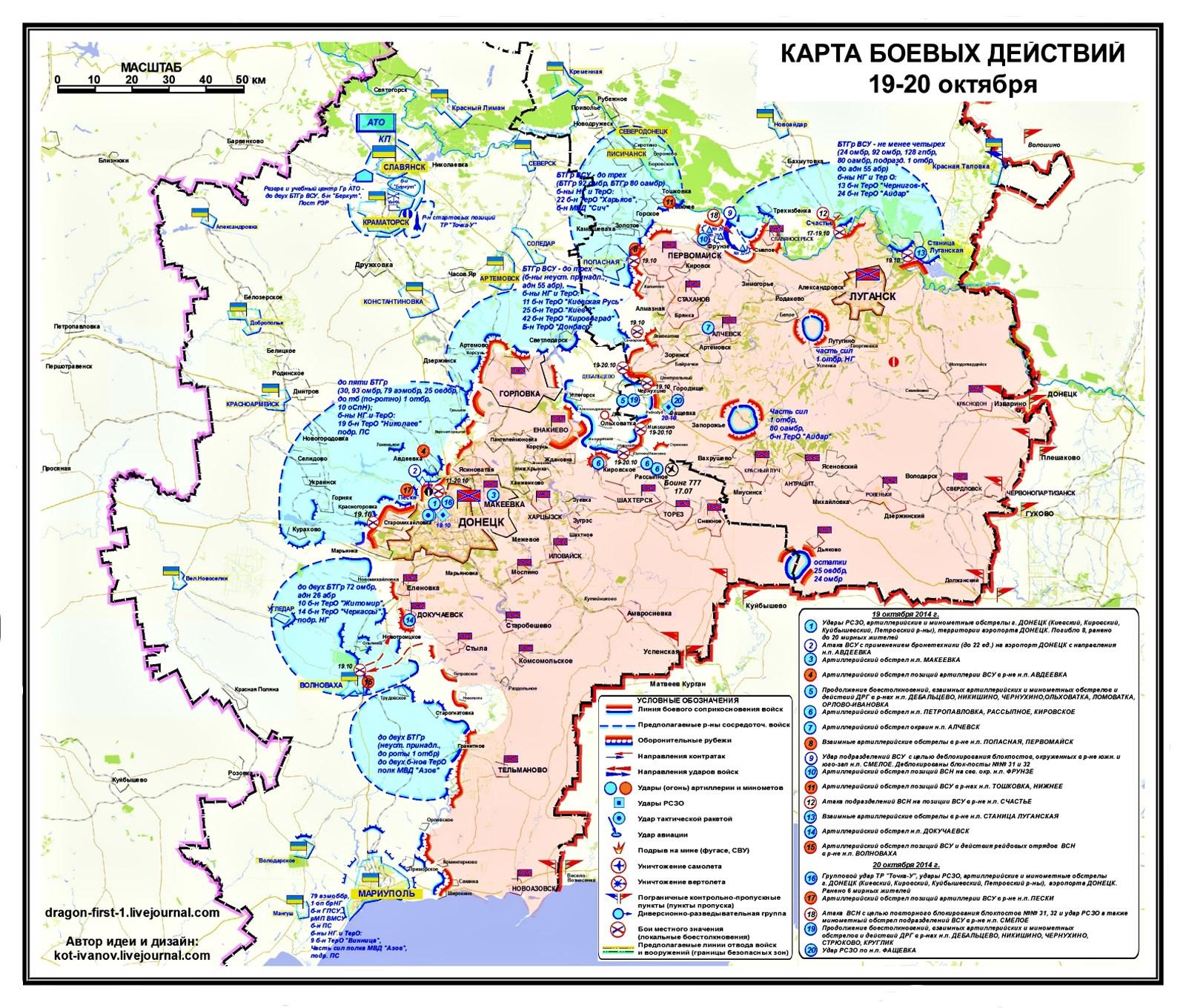 00 novorossiya. sitrep map 01. 20.10.14