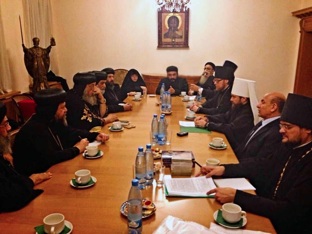 00 Pope and Patriarch Tawadros in Moscow. 29.10.14