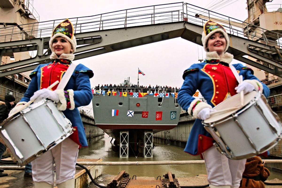 00 frigate admiral kasotonov. St Petersburg RF. 24.12.14