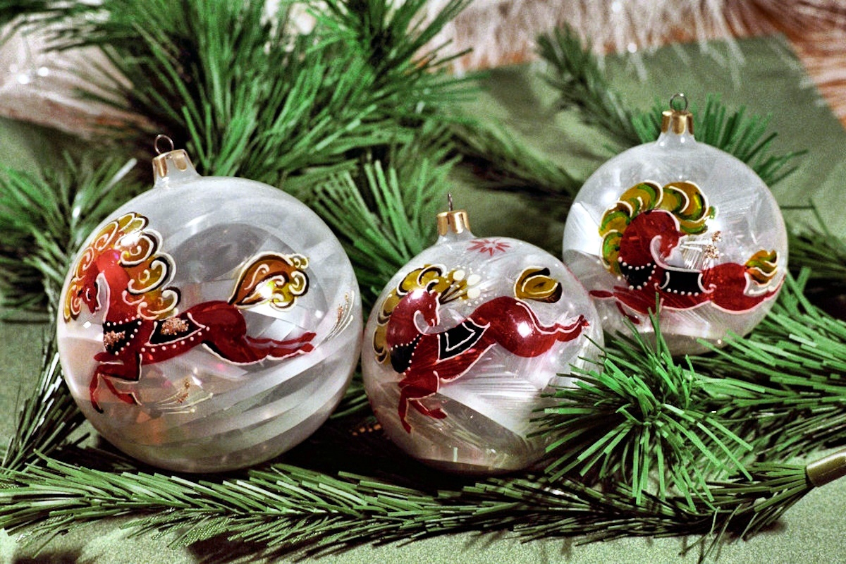 Sputnik christmas ornaments - 00