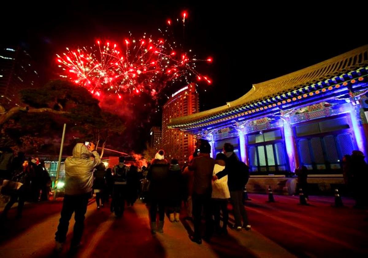00 fireworks new year 03. Seoul South Korea. 02.01.15