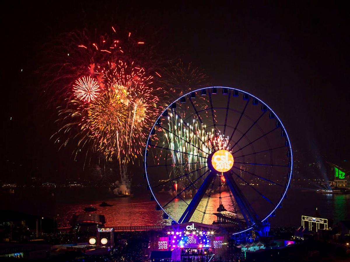 00 fireworks new year 05. Hong Kong China. 02.01.15