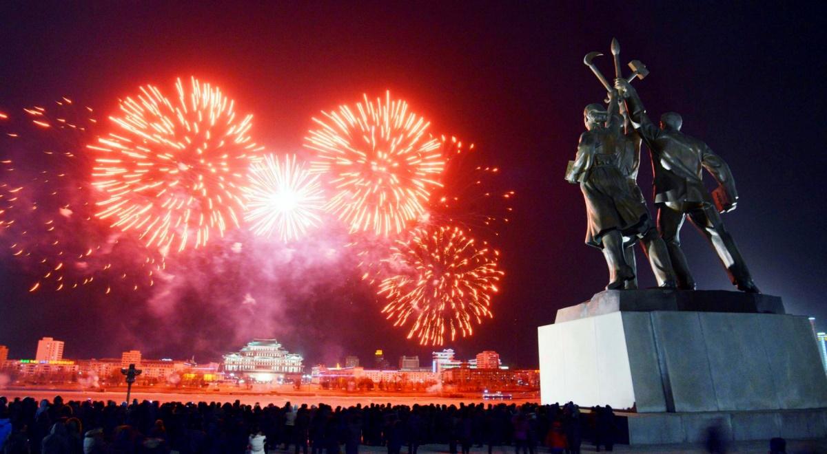 00 fireworks new year 06. Pyongyang North Korea. 02.01.15
