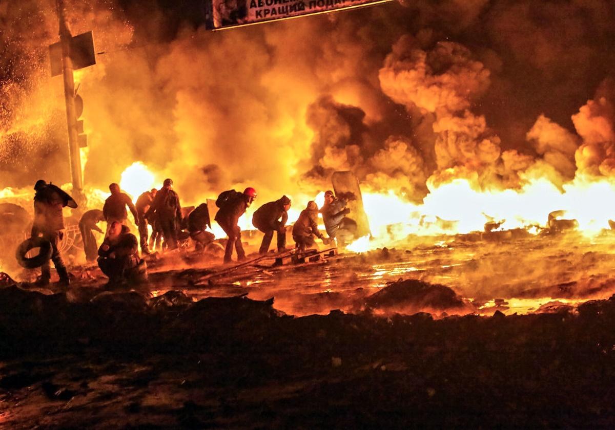 00 Maidan. Kiev. nationalist terrorists. 04.01.15