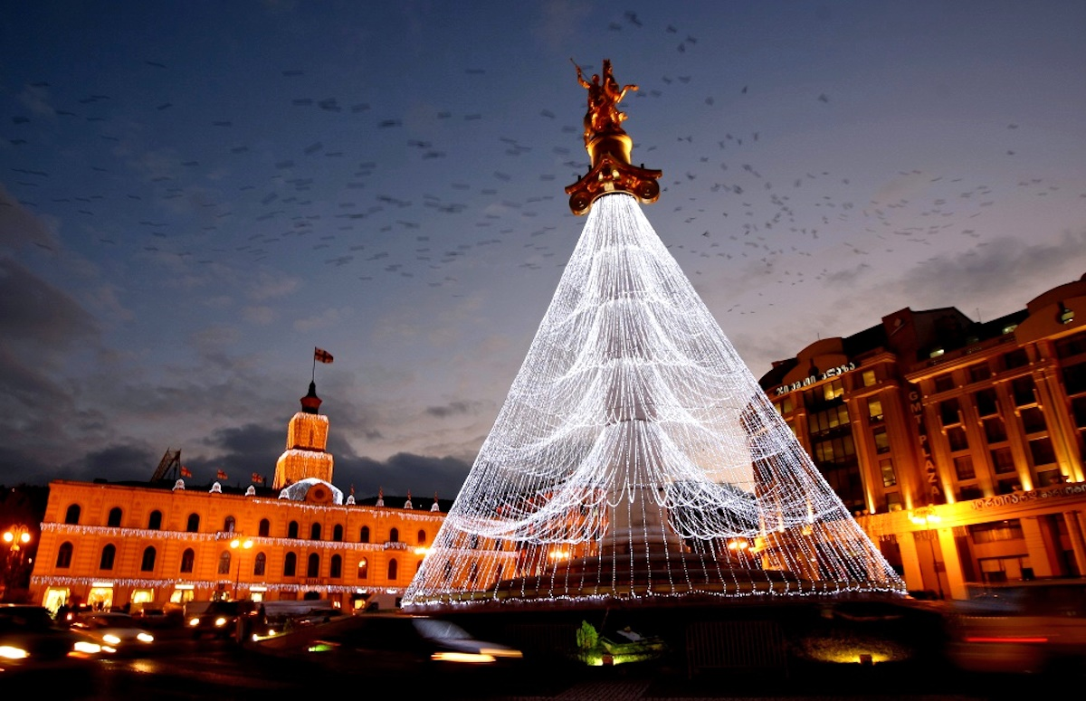 00 New Year Trees 02. Tbilisi Georgia. 01.01.15