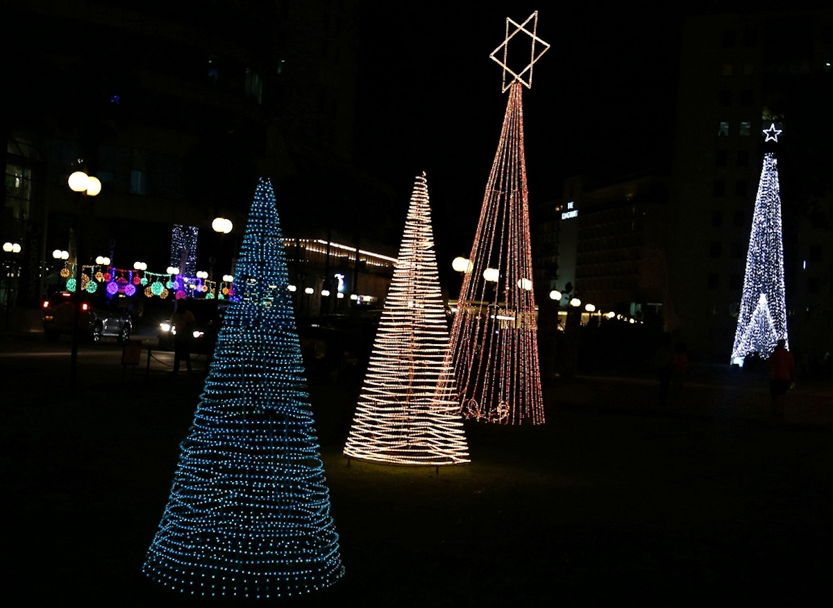 00 New Year Trees 05. Colombo Sri Lanka. 01.01.15