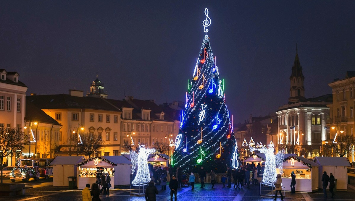 00 New Year Trees 13. Vilnius Lithuania. 01.01.15