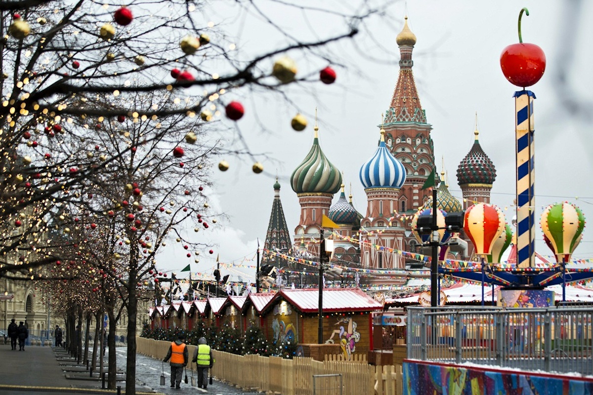 00 Russian New Year 03. Moscow Christmas Fair. 01.01.15
