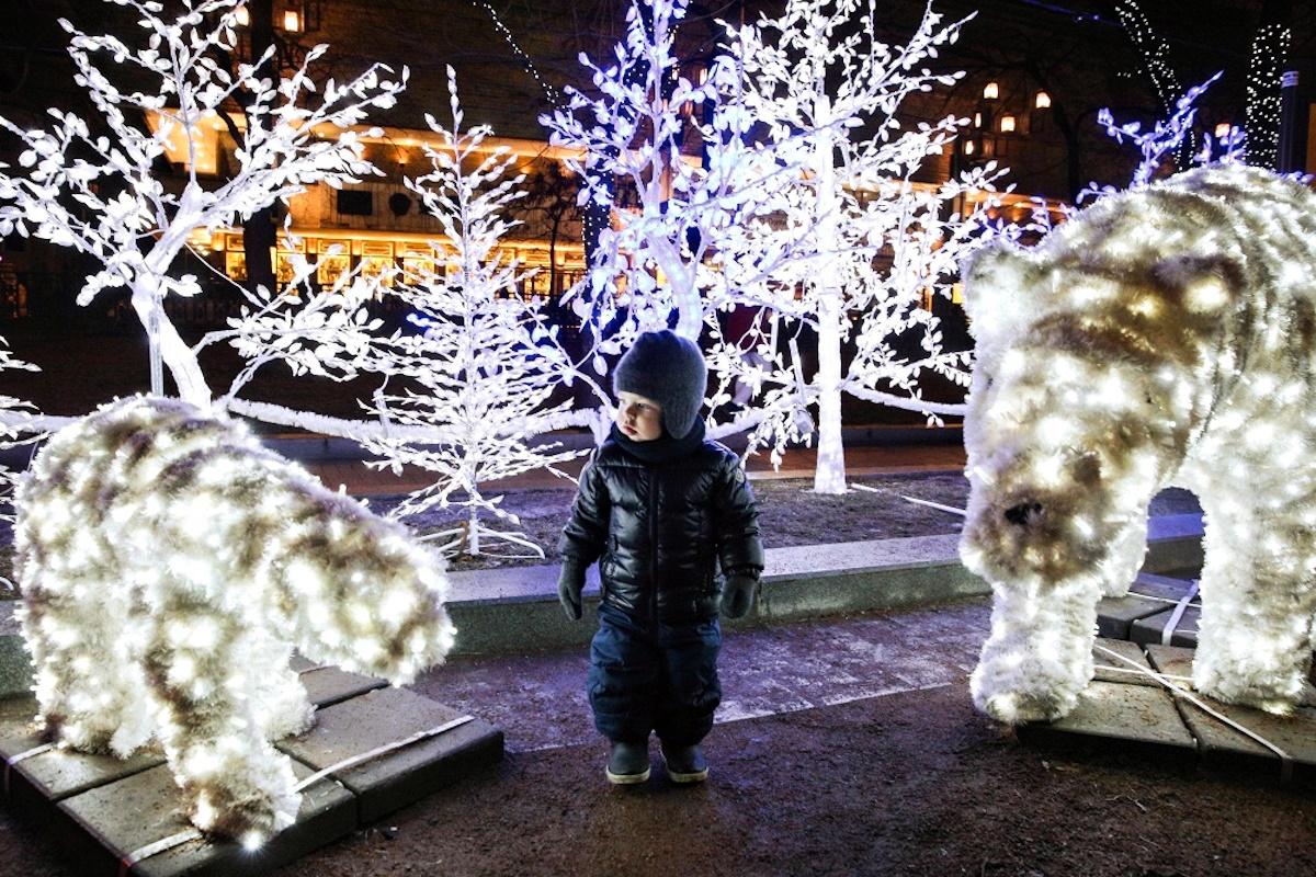 00 Russian New Year 07. Moscow Tverskoy Boulevard. 01.01.15