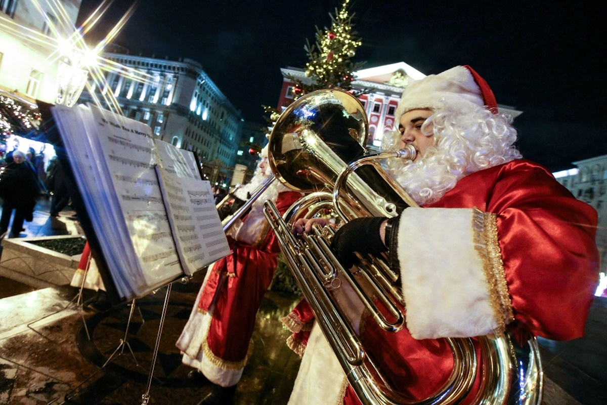 00 Russian New Year 11. Moscow Tverskaya Square Ded Moroz. 01.01.15
