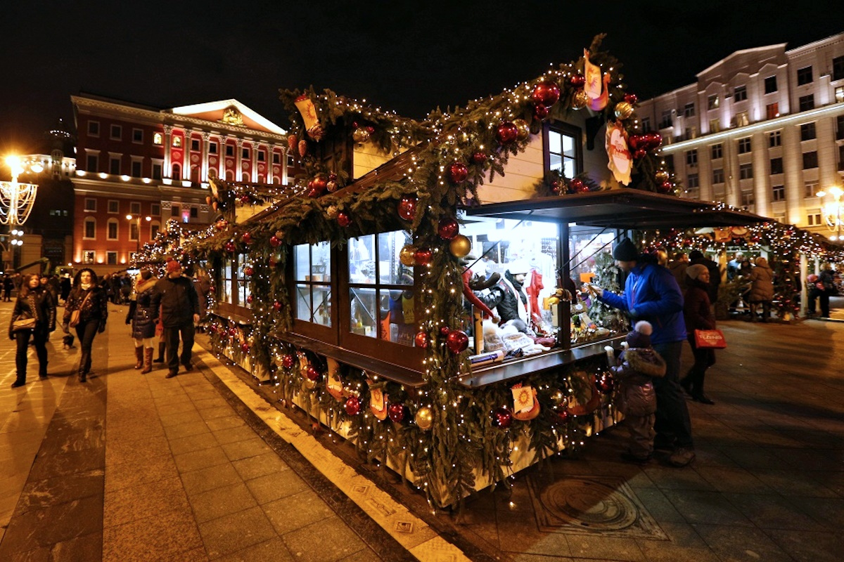 00 Russian New Year 12. Moscow Tverskaya Square Christmas Market. 01.01.15