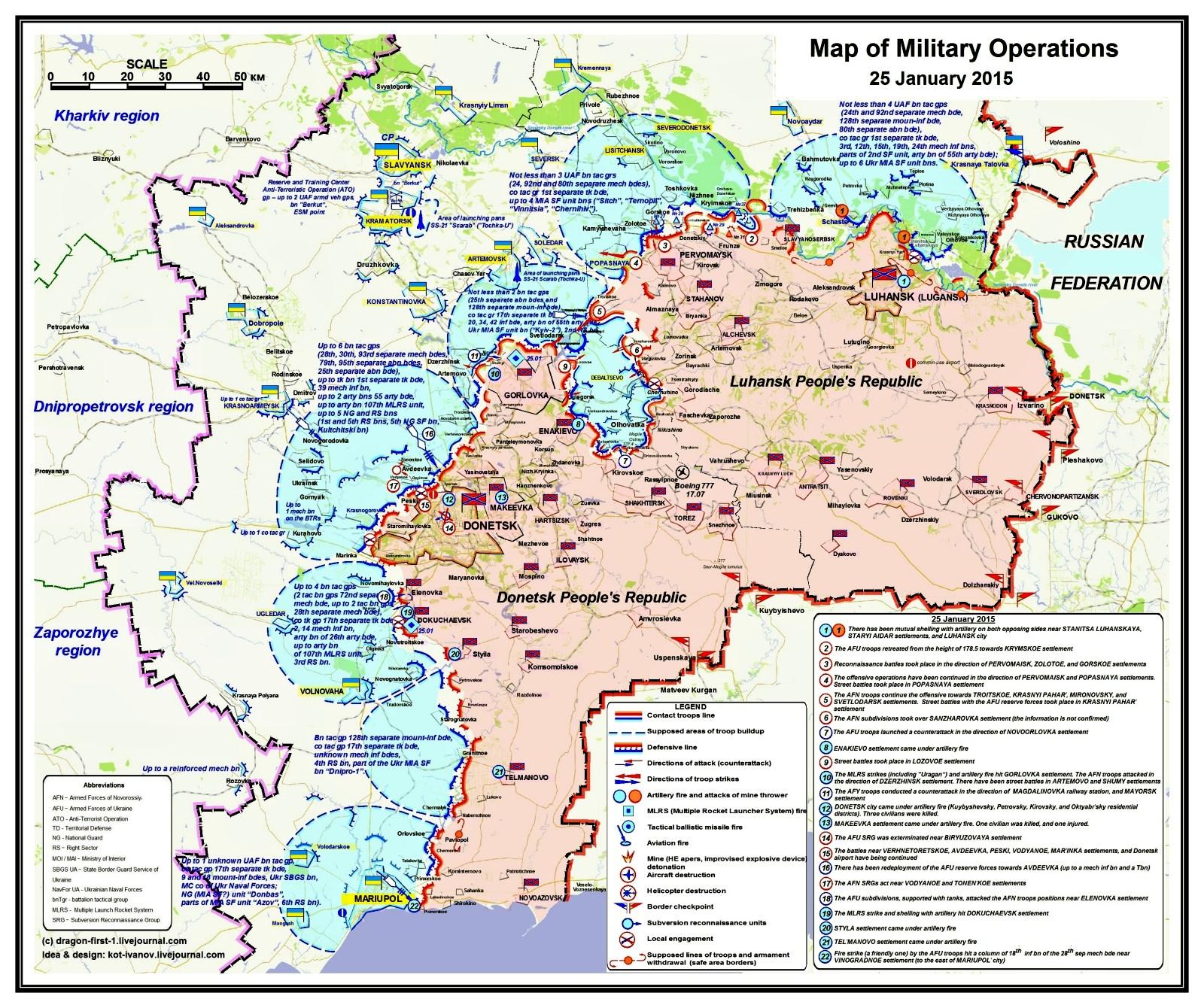 00 sitrep map Novorossiya 01. 27.01.15