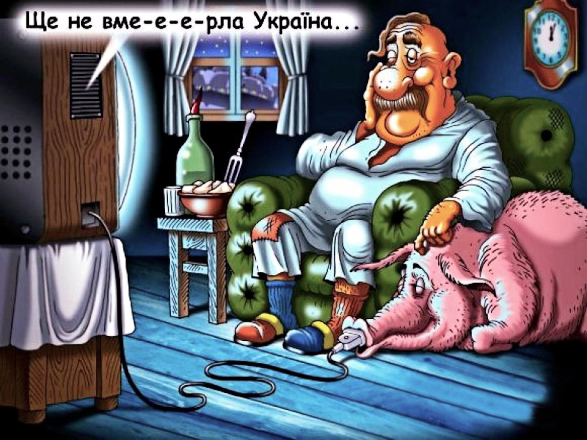 00 The Ukraine Isn't Dead Yet. political cartoon. 22.01.15