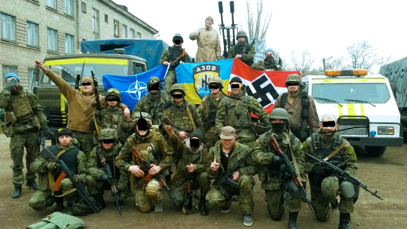 00 Uniate Azov Battalion Nazis. 22.01.15